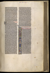 Historiated Initial With The Building Of The Temple In Jerusalem, In A Bible